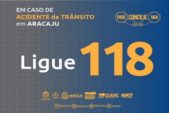 Ligue 118 para conciliação em Acidentes de Trânsito na capital