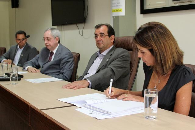 Convênio firmado permitirá o levantamento estatístico de casos de violência contra a mulher no estado (Foto: Bruno César/ Dircom TJSE)