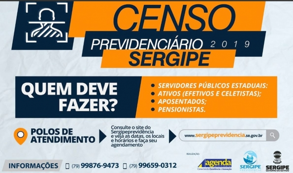 Censo previdenciário: confira as datas para servidores e magistrados ativos e inativos do TJSE