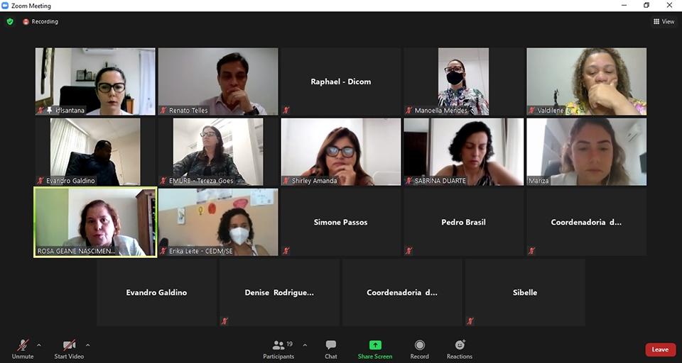 ICEVID reúne órgãos do Estado e do Município de Aracaju para discutir infraestrutura da Casa da Mulher Brasileira