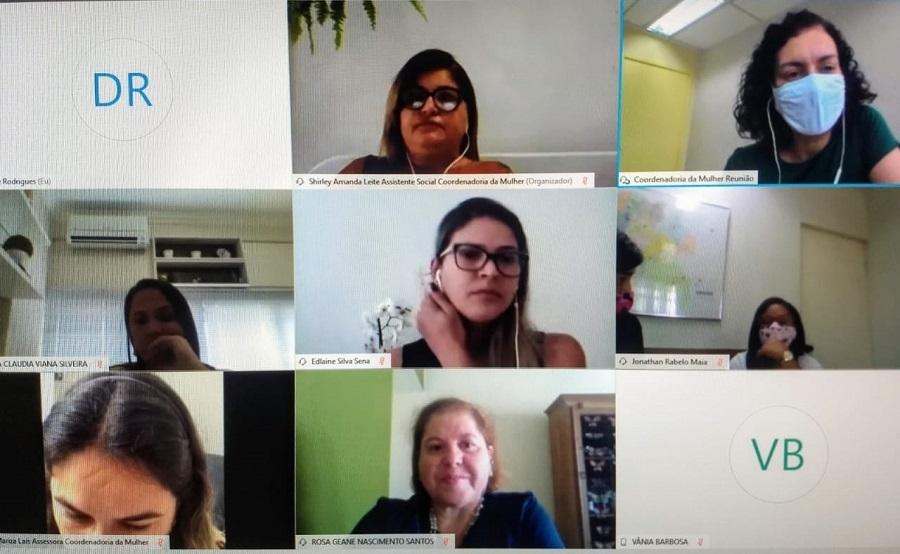 ICoordenadoria da Mulher aborda criação de grupos reflexivos com o Município de Aracaju